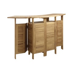 New Teak Foldable Dry Bar, Indoor and Outdoor