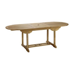 New Teak Rectangular Foldable Dining Table, Indoor and Outdoor