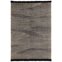NEW - Telares Ebony Killim Standard Afghan Wool Rug by Nani Marquina