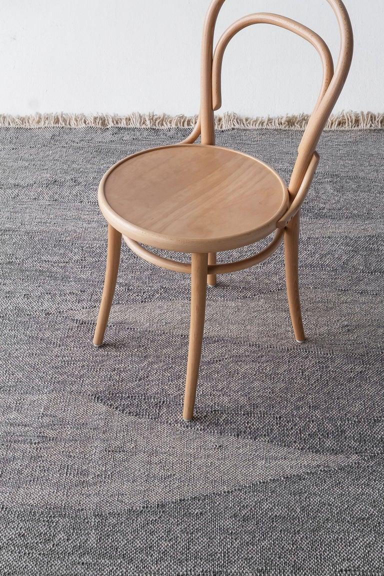 Modern NEW - Telares Fog Killim Standard Afghan Wool Rug by Nani Marquina For Sale