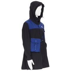 new THE NORTH FACE KAZUKI KARAISHI Black Flag Blue Bravo 2 long raincoat L / XL