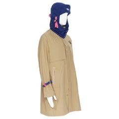 new THE NORTH FACE KAZUKI KARAISHI Kelp Tan Blue Futurelight raincoat S / M