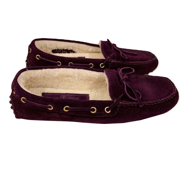 New The Original Prada Car Shoe Flat Moccasin Shearling House Driving  Sz 36 For Sale 8