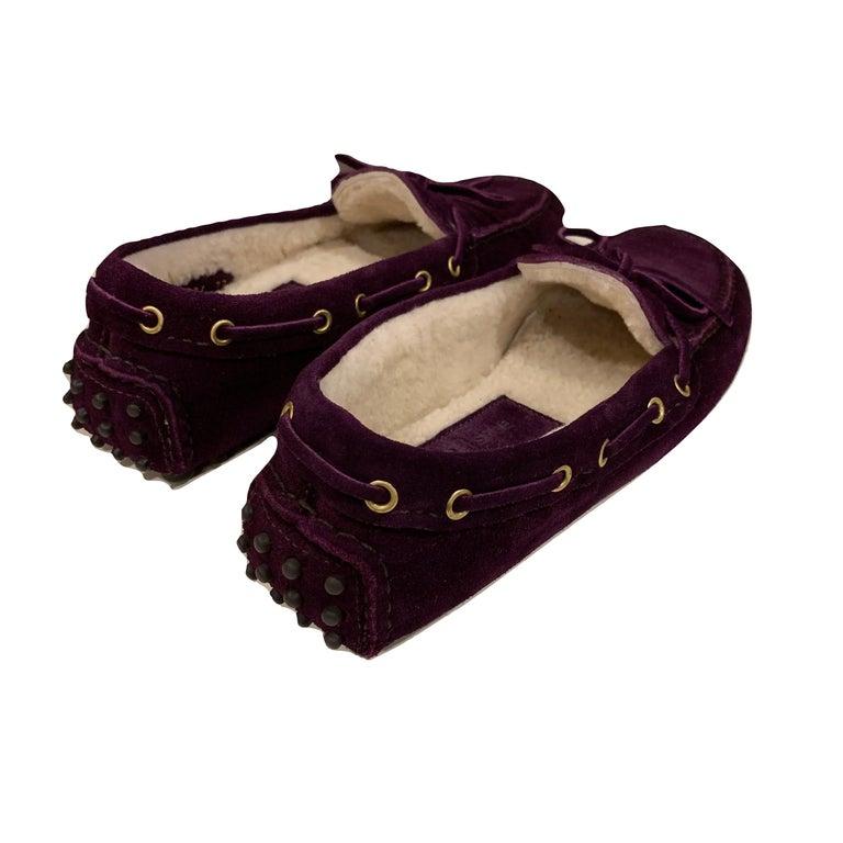 New The Original Prada Car Shoe Flat Moccasin Shearling House Driving  Sz 36 For Sale 3