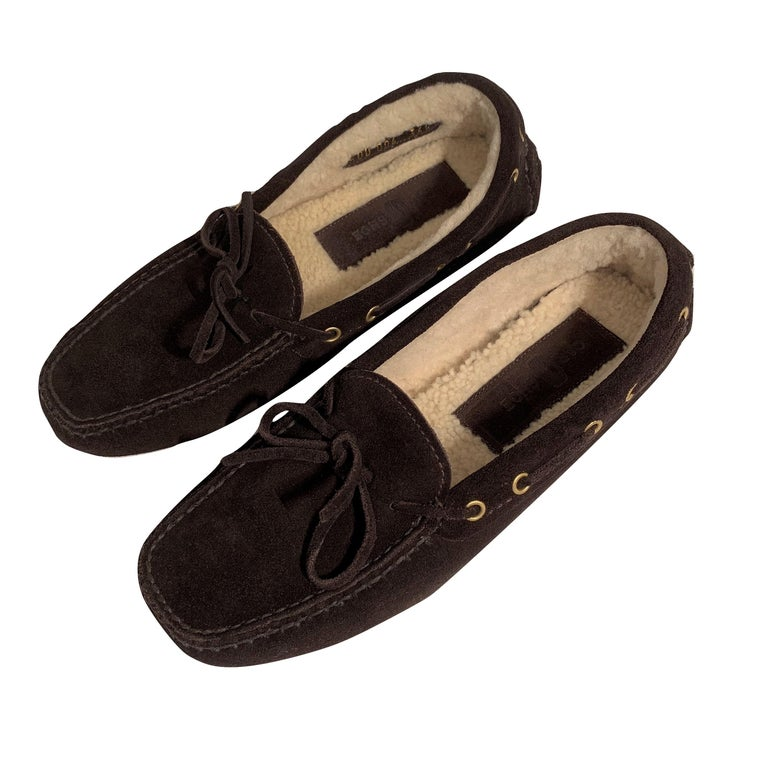 New The Original Prada Car Shoe Flat Moccasin Shearling House Driving  Sz 36.5 For Sale 5