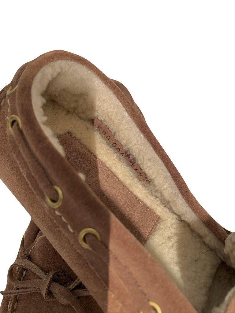 New The Original Prada Car Shoe Flat Moccasin Shearling House Driving  Sz 36.5 For Sale 5