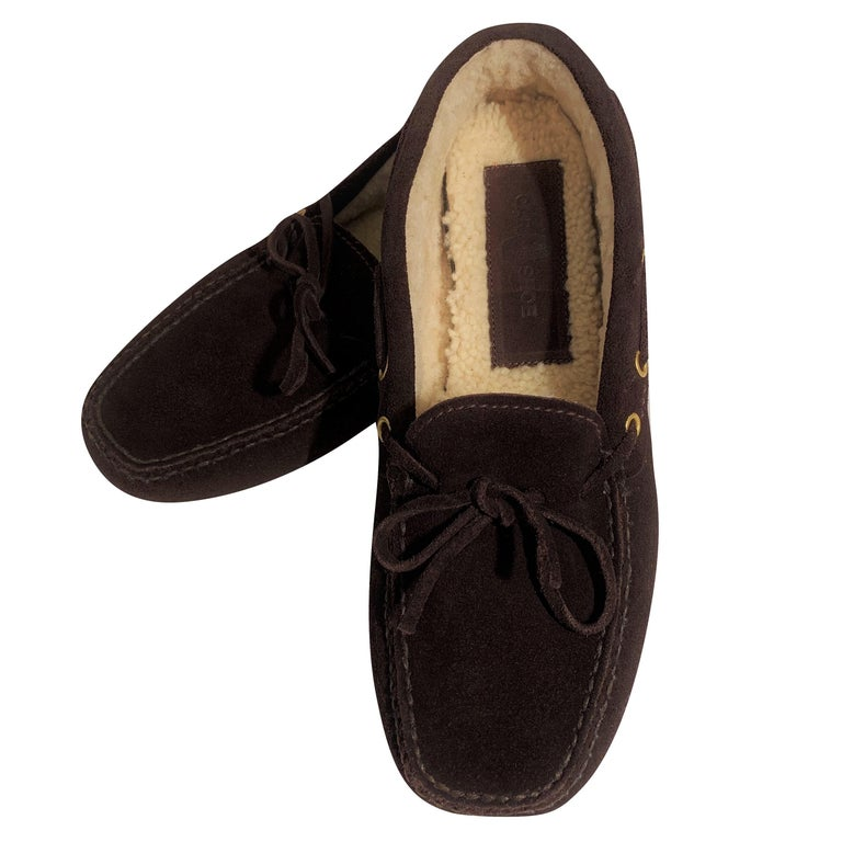 New The Original Prada Car Shoe Flat Moccasin Shearling House Driving  Sz 36.5 For Sale 6
