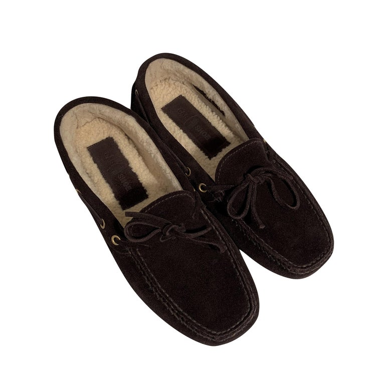 New The Original Prada Car Shoe Flat Moccasin Shearling House Driving  Sz 36.5 For Sale 7