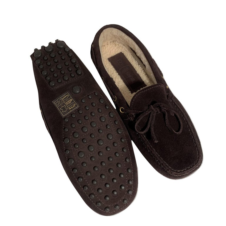 New The Original Prada Car Shoe Flat Moccasin Shearling House Driving  Sz 36.5 For Sale 8