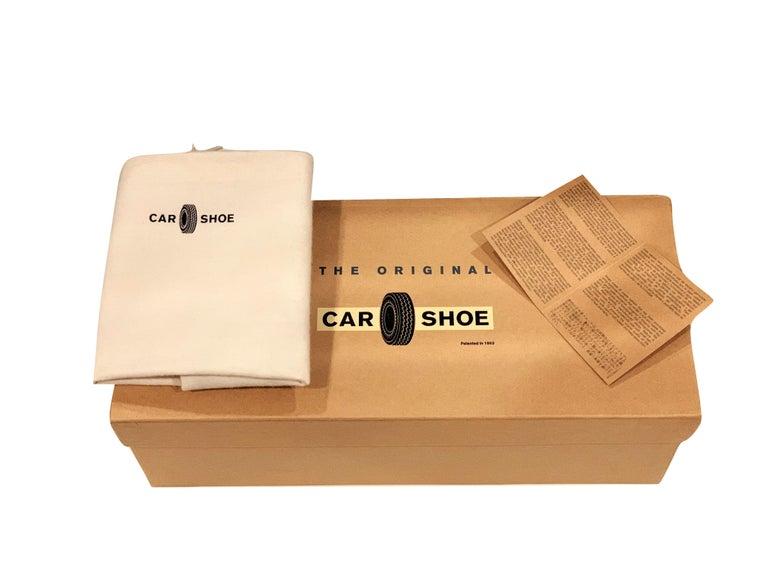 New The Original Prada Car Shoe Flat Moccasin Shearling House Driving  Sz 37 For Sale 6