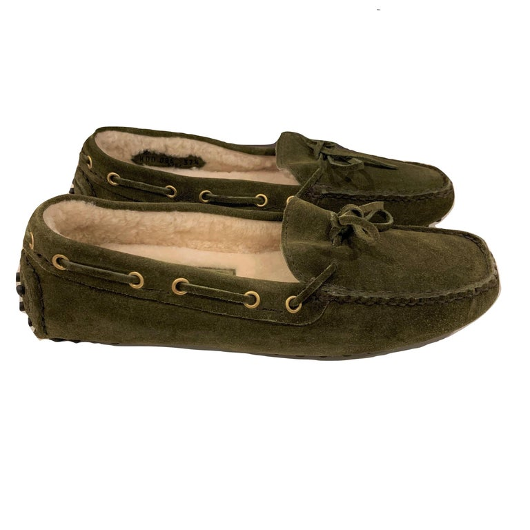New The Original Prada Car Shoe Flat Moccasin Shearling House Driving  Sz 37 In New Condition For Sale In Leesburg, VA