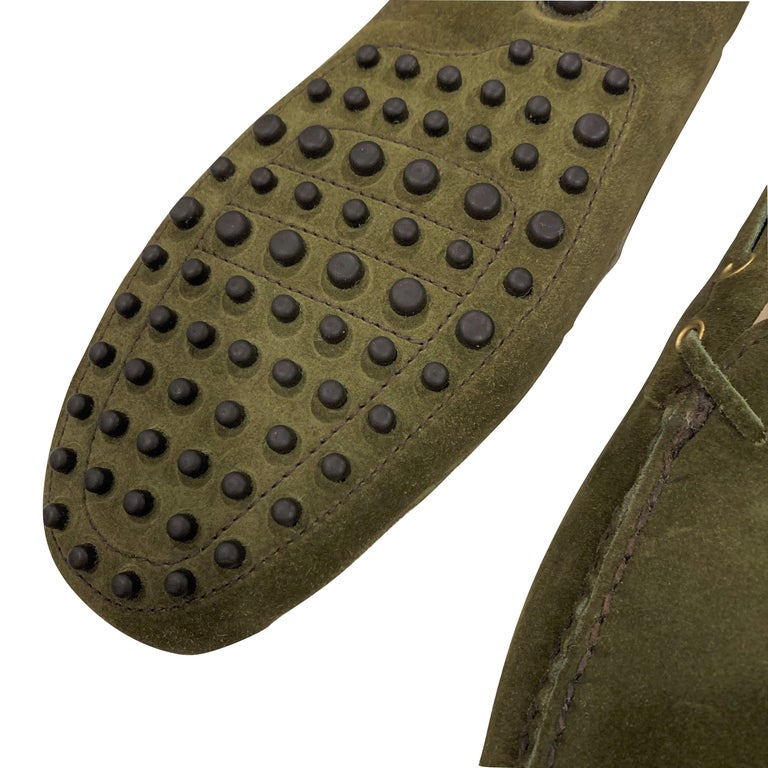 Women's  New The Original Prada Car Shoe Flat Moccasin Shearling House Driving  Sz 37 For Sale