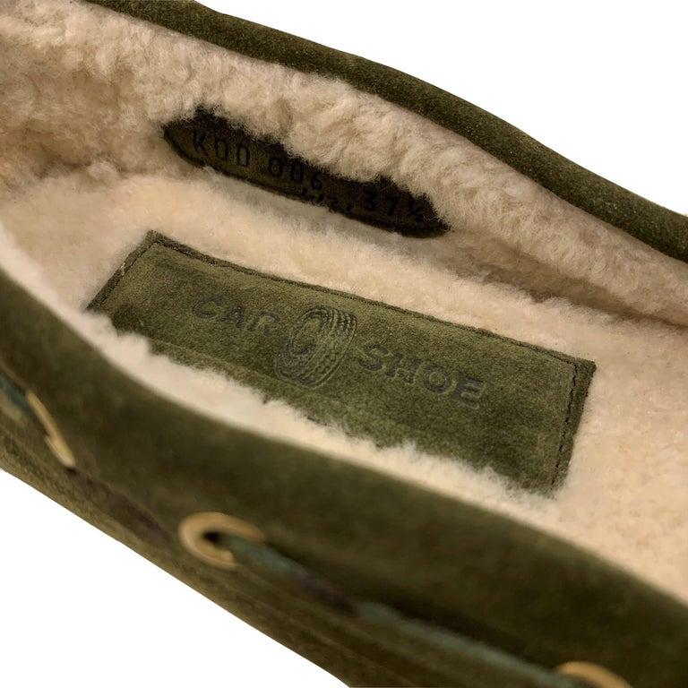 New The Original Prada Car Shoe Flat Moccasin Shearling House Driving  Sz 37 For Sale 2