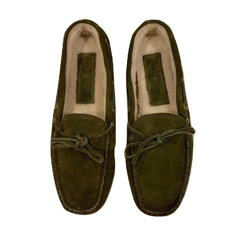 New The Original Prada Car Shoe Flat Moccasin Shearling House Driving  Sz 37 For Sale 4