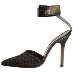 New Tom Ford for Gucci 1997 Collection Beaded Ankle-Strap Shoes 38.5 C - US 8.5