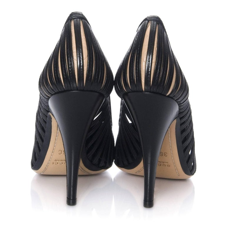 Women's New Tom Ford for Gucci Kate Moss Cage Heels Pumps Rare  For Sale