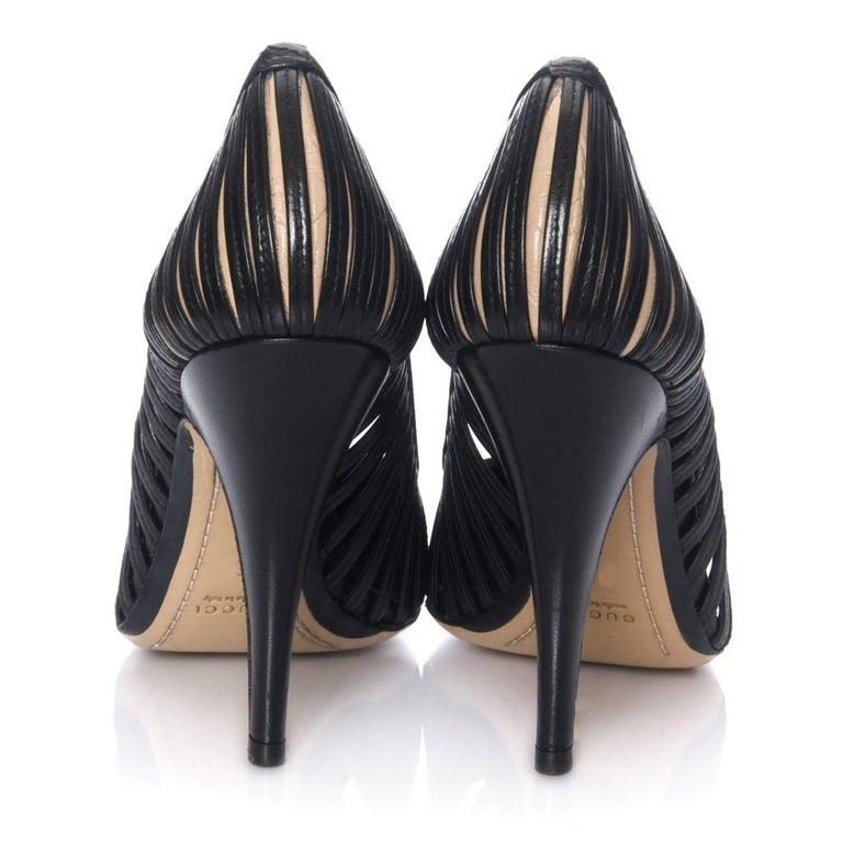 Women's New Tom Ford for Gucci Kate Moss Cage Heels Pumps Rare Sz 8 For Sale