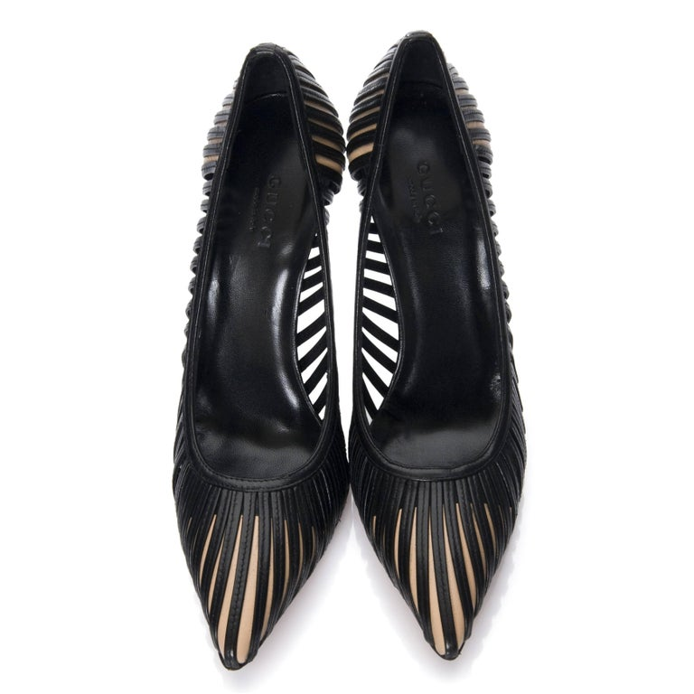 New Tom Ford for Gucci Kate Moss Cage Heels Pumps Rare Sz 8 For Sale 1