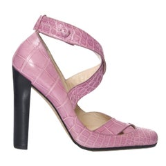 New Tom Ford for Gucci Crocodile Ballerina Heels Pumps Size 39