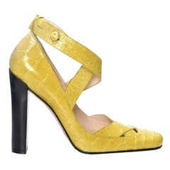 New Tom Ford for Gucci Crocodile Ballerina Heels Pumps Sz 39