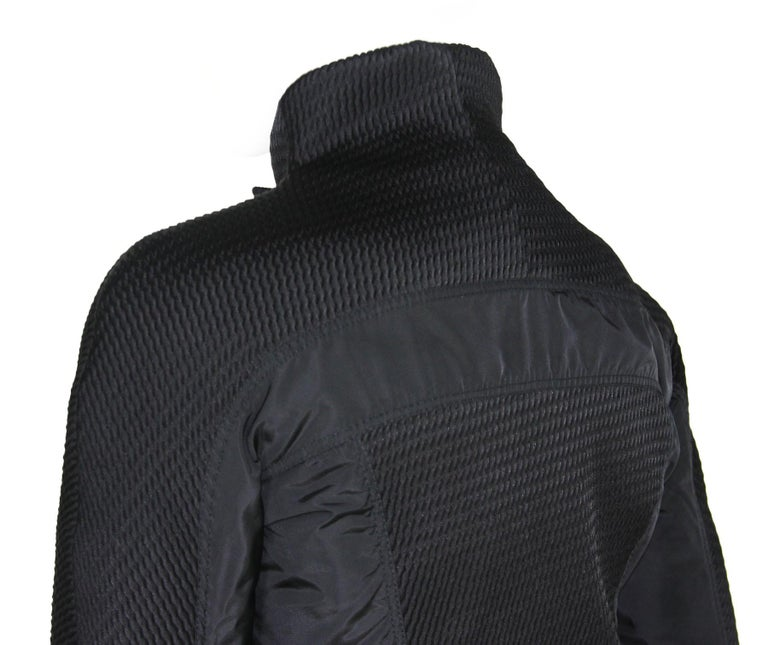 New Tom Ford for Gucci F/W 2004 Black Nylon Warm Jacket 44 For Sale 6