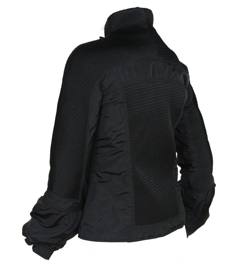 New Tom Ford for Gucci F/W 2004 Black Nylon Warm Jacket 44 For Sale 1