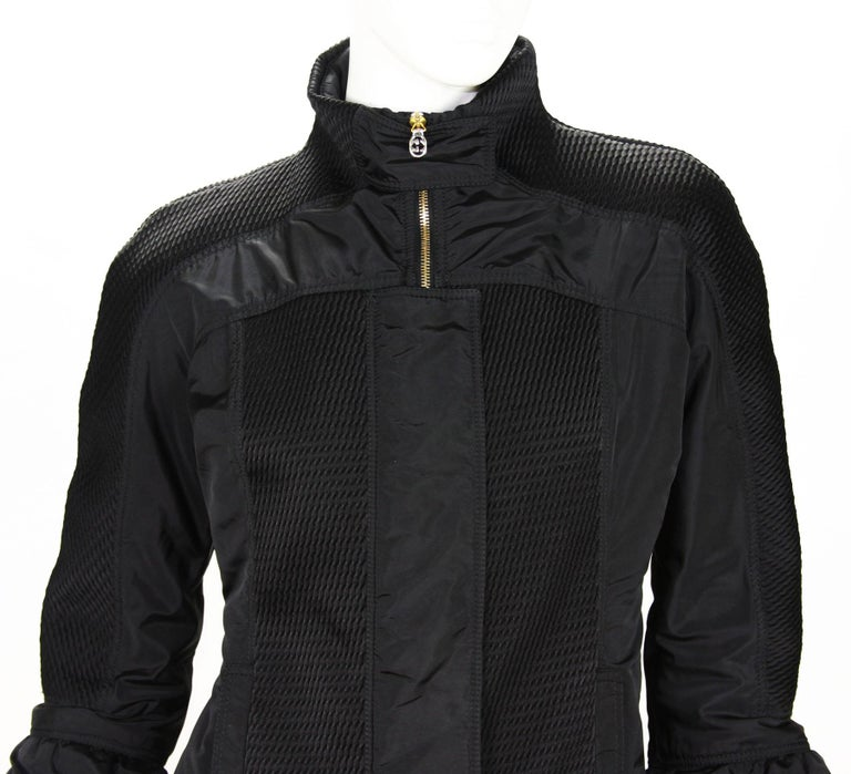 New Tom Ford for Gucci F/W 2004 Black Nylon Warm Jacket 44 For Sale 2