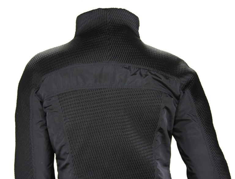 New Tom Ford for Gucci F/W 2004 Black Nylon Warm Jacket 44 For Sale 5