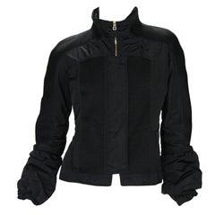New Tom Ford for Gucci F/W 2004 Black Nylon Warm Jacket 44