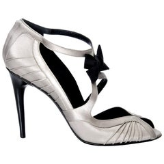 New Tom Ford for Gucci Satin Runway Sarah Jessica Parker Heels Pumps Sz 8.5