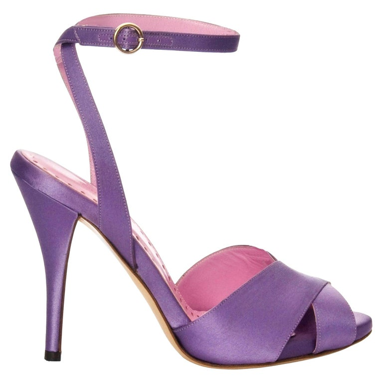 New Tom Ford for YSL Yves Saint Laurent Final Collection Satin Heels Sz 37 For Sale
