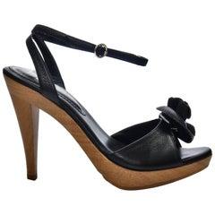 New Tom Ford for YSL Yves Saint Laurent Nadja Rosette Black Heels Pumps Sz 40