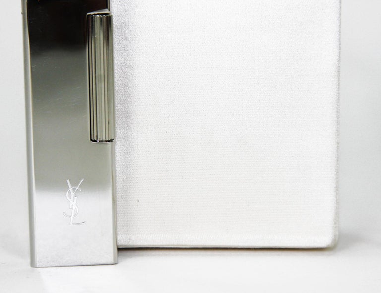 New Tom Ford for Yves Saint Laurent S/S 2001 Silk Cigarette Case and Lighter For Sale 5