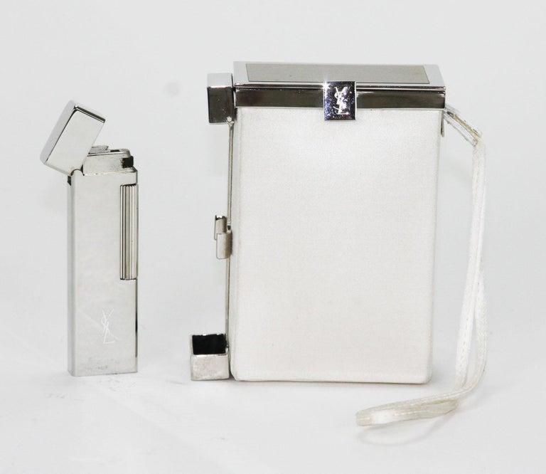 New Tom Ford for Yves Saint Laurent S/S 2001 Silk Cigarette Case and Lighter For Sale 2