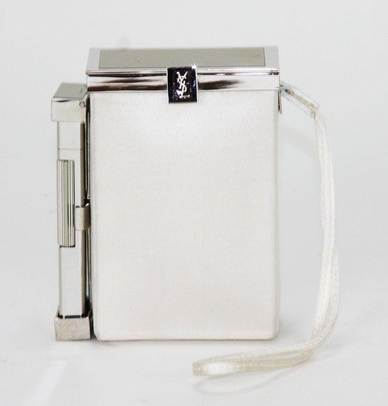 New Tom Ford for Yves Saint Laurent S/S 2001 Silk Cigarette Case and Lighter For Sale 3