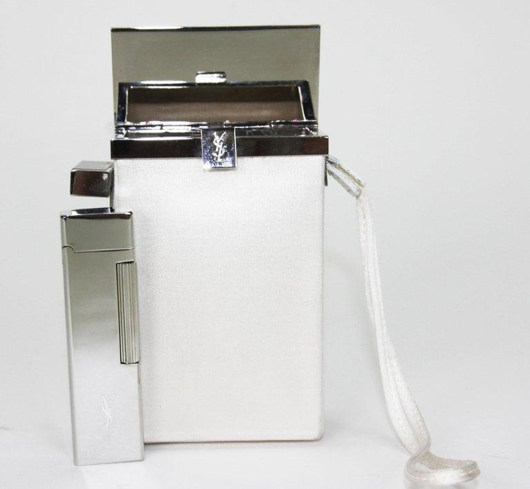 New Tom Ford for Yves Saint Laurent S/S 2001 Silk Cigarette Case and Lighter For Sale 4
