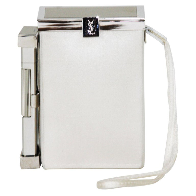New Tom Ford for Yves Saint Laurent S/S 2001 Silk Cigarette Case and Lighter For Sale