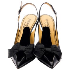 New Tom Ford for Yves Saint Laurent YSL Bow Heels Pumps Sz 40.5