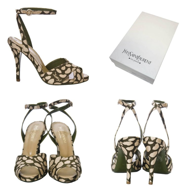 New Tom Ford for Yves Saint Laurent New YSL Eva Lips Heels Sz 38.5 In New Condition For Sale In Leesburg, VA