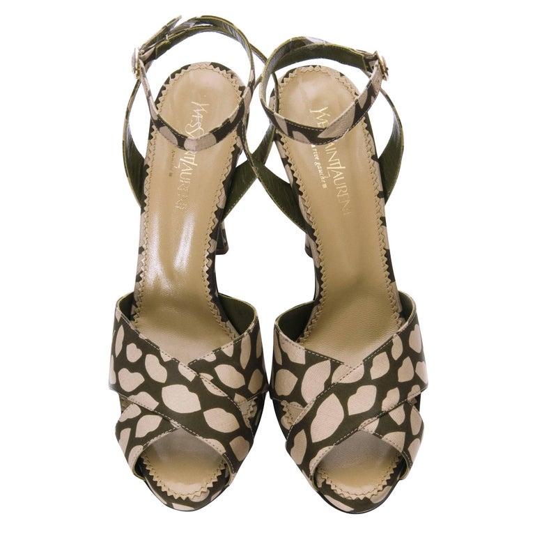 New Tom Ford for Yves Saint Laurent New YSL Eva Lips Heels Sz 38.5 For Sale 1