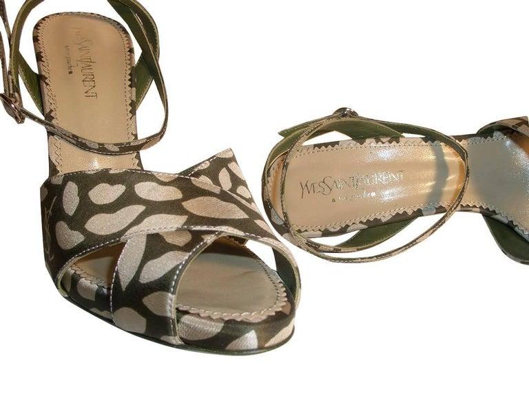 New Tom Ford for Yves Saint Laurent New YSL Eva Lips Heels Sz 38.5 For Sale 4