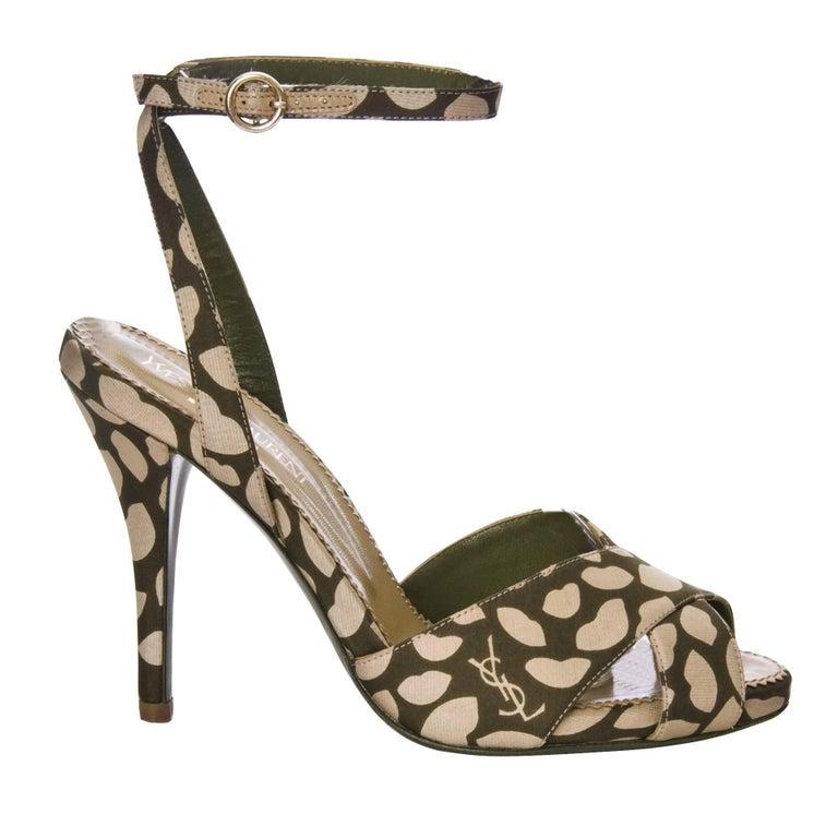 Brown New Tom Ford for Yves Saint Laurent New YSL Eva Lips Heels Sz 38.5 For Sale