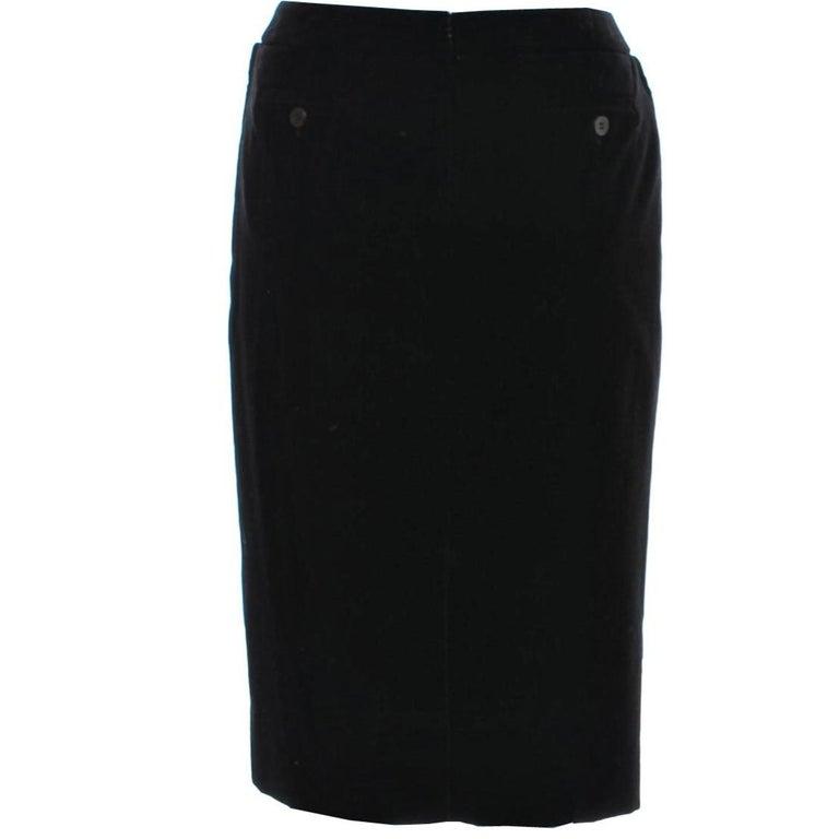 New Tom Ford For Yves Saint Laurent YSL F/W 2001 Velvet Runway Ad Skirt Sz Fr36 For Sale 3