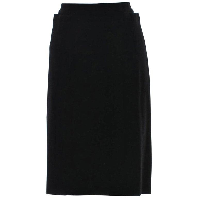 New Tom Ford For Yves Saint Laurent YSL F/W 2001 Velvet Runway Ad Skirt Sz Fr40 For Sale