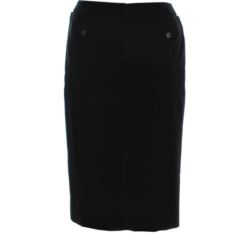 Women's New Tom Ford For Yves Saint Laurent YSL F/W 2001 Velvet Runway Ad Skirt Sz Fr44 For Sale
