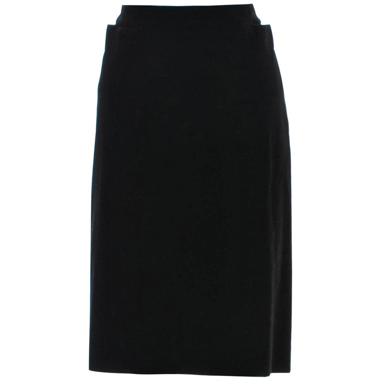 New Tom Ford For Yves Saint Laurent YSL F/W 2001 Velvet Runway Ad Skirt Sz Fr44 For Sale