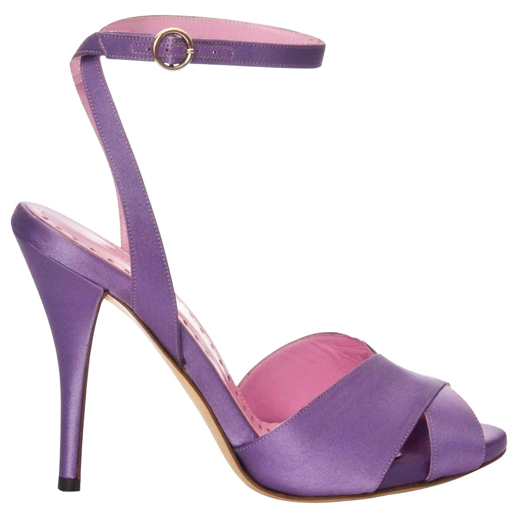 New Tom Ford for Yves Saint Laurent YSL Final Collection Satin Heels Sz 38.5