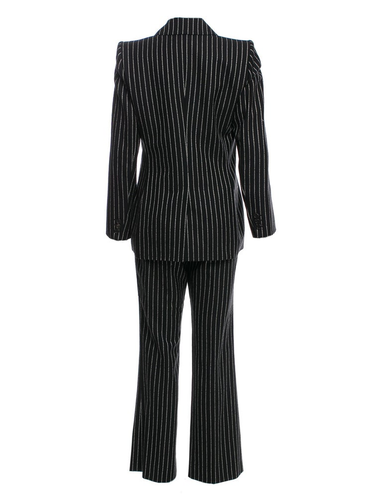 New Tom Ford For Yves Saint Laurent YSL Pinstripe Pantsuit Suit FR40 6/8 For Sale 3