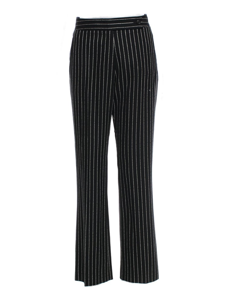 New Tom Ford For Yves Saint Laurent YSL Pinstripe Pantsuit Suit FR40 6/8 For Sale 7