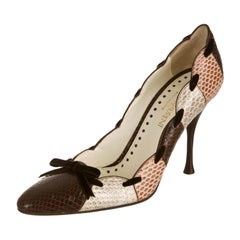 New Tom Ford for Yves Saint Laurent YSL Snakeskin Heels Pumps Sz 40